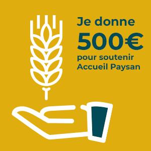 Don à l'association 500€